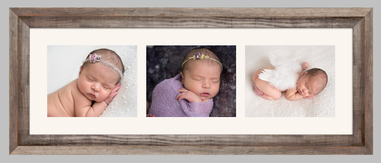 Frame sample Newborn photo session photographed by Kenia Lombard in San Diego, CA