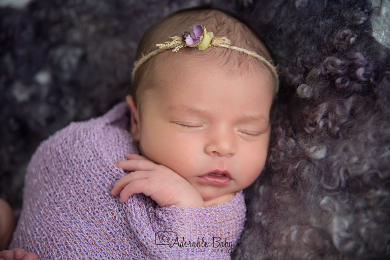 Newborn photo session photographed by Kenia Lombard in San Diego, CA