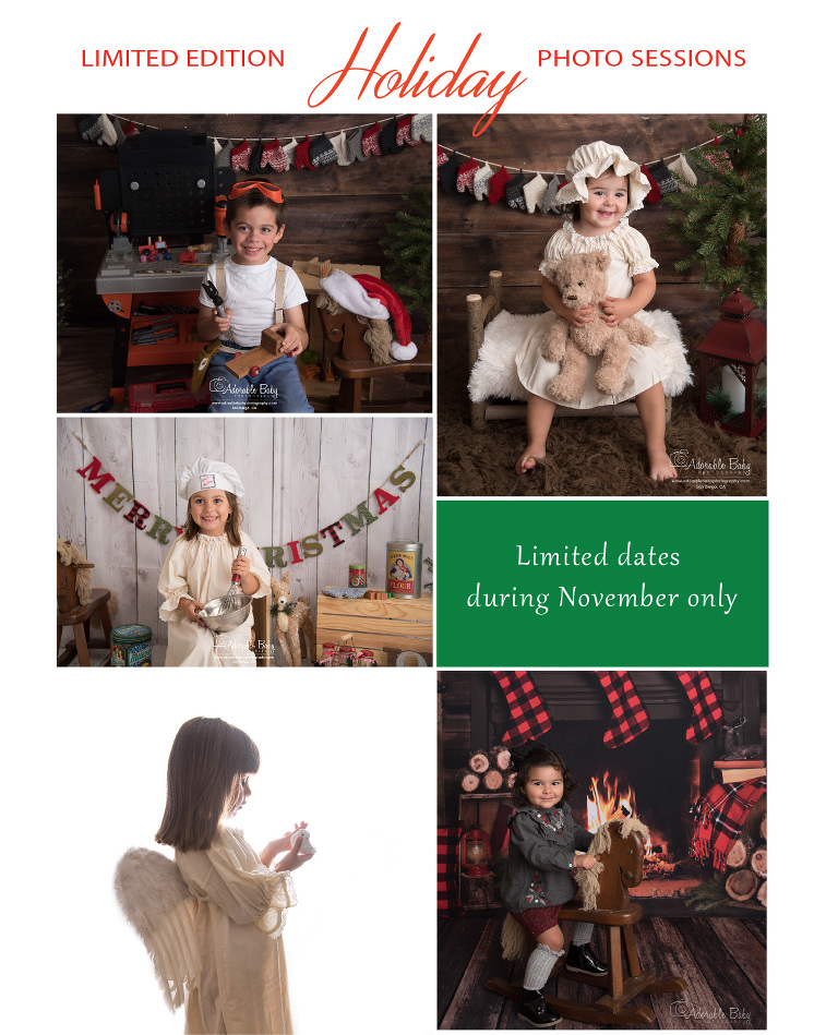 Holiday photo sessions for kids San Diego